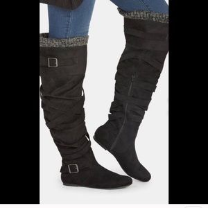 New Just Fab Jentry Knee High Boots L1